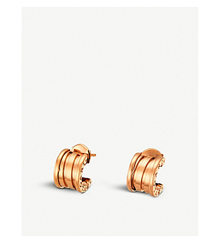BVLGARI B.Zero 1 18ct pink-gold hoop earrings
