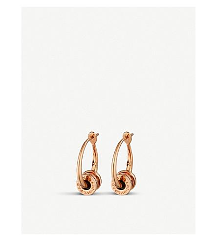 BVLGARI B.Zero1 18ct rose-gold hoop earrings