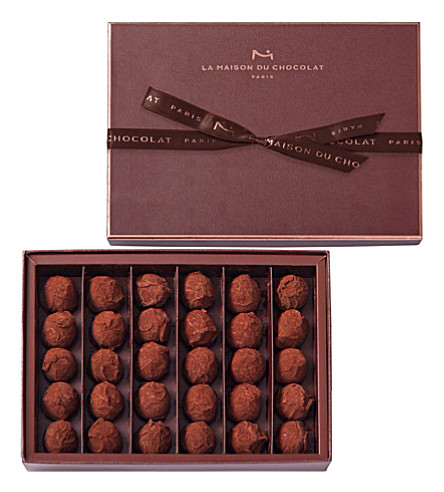 LA MAISON DU CHOCOLAT Plain Dark Chocolate Truffles box 210g