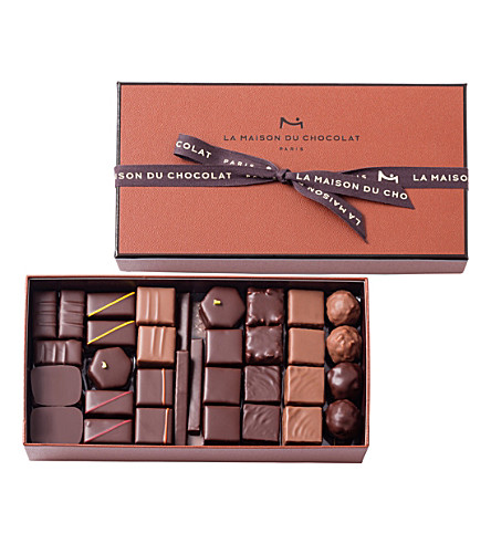 LA MAISON DU CHOCOLAT Coffret Maison 61-piece chocolate ganache selection 480g