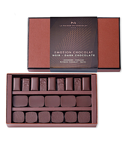 LA MAISON DU CHOCOLAT Emotion 21-piece dark chocolate ganache selection 154g