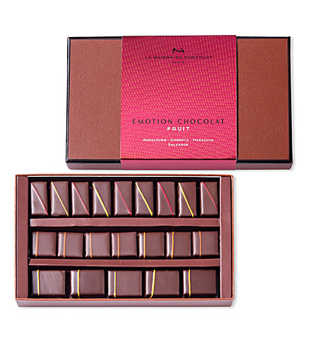 LA MAISON DU CHOCOLAT Emotion fruit 21-piece chocolate ganache selection 154g