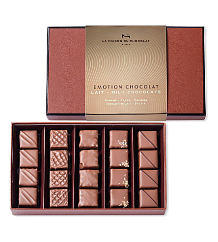 LA MAISON DU CHOCOLAT Emotion 20-piece milk chocolate ganache selection 162g