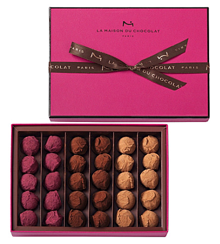 LA MAISON DU CHOCOLAT 30-piece chocolate truffle selection