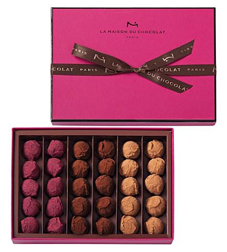 LA MAISON DU CHOCOLAT 30-piece chocolate truffle selection