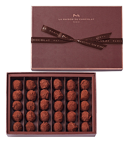 LA MAISON DU CHOCOLAT 30-piece dark chocolate truffle selection