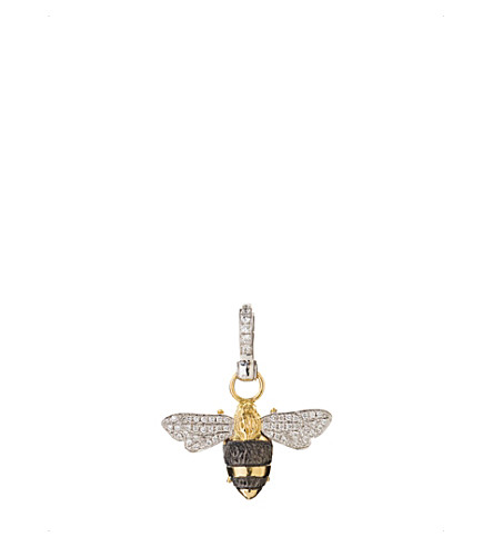 ANNOUSHKA Mythology 18ct yellow, white gold diamond Bumble Bee charm