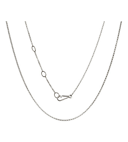 ANNOUSHKA 18ct white-gold Classic Mini Belcher chain