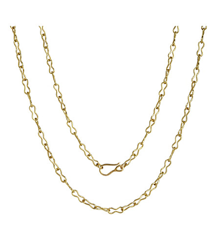 ANNOUSHKA Classic infinity handmade 18ct yellow-gold chain necklace