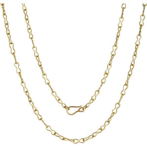 Classic infinity handmade 18ct yellow-gold chain necklace