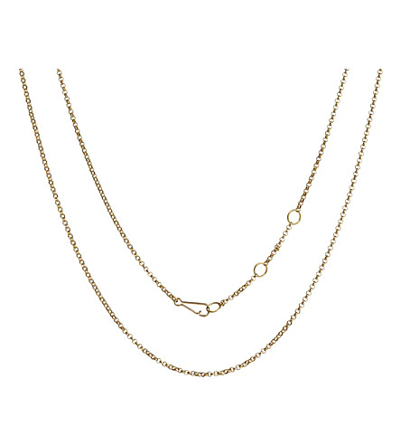 ANNOUSHKA Classic 18ct yellow-gold long belcher chain necklace