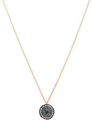 ANNOUSHKA Love diamonds 18kt yellow-gold and diamond evil eye pendant necklace