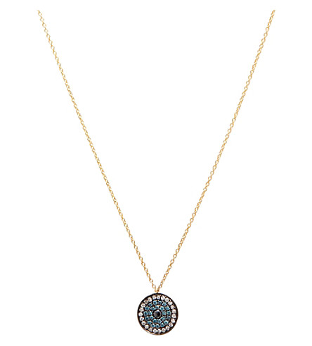 <mstrans:dictionary translation=&quot;ANNOUSHKA&quot;>ANNOUSHKA</mstrans:dictionary> Love Diamonds 18ct yellow-gold and diamond evil eye pendant necklace