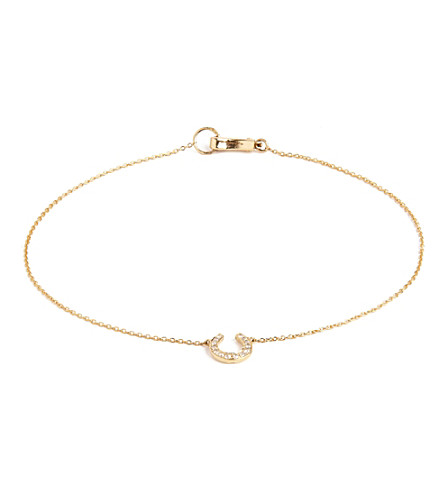 ANNOUSHKA Love diamonds 18ct yellow-gold horseshoe bracelet