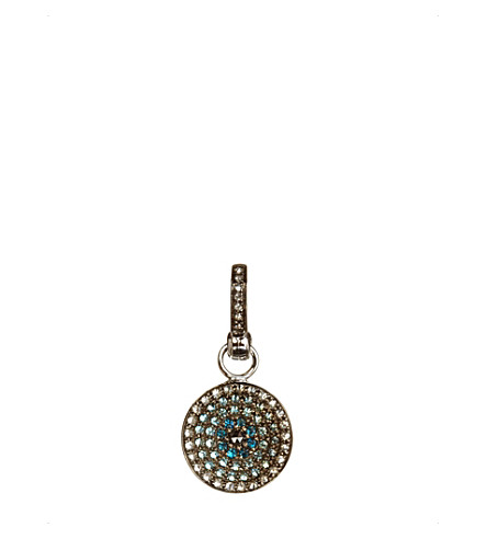 ANNOUSHKA Mythology Serenity evil eye 18ct white-gold and diamonds amulet pendant