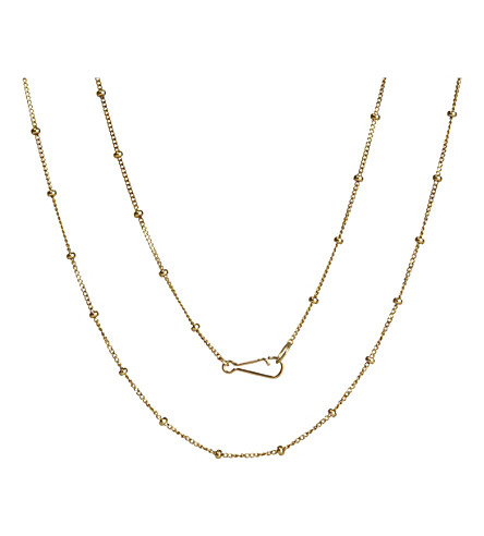 ANNOUSHKA Classic saturn 18ct yellow-gold short chain