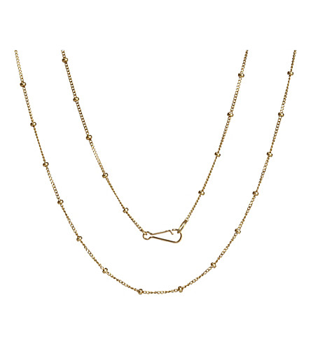 ANNOUSHKA Classic saturn 18ct yellow-gold long chain