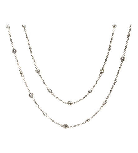ANNOUSHKA Nectar Jasmine 18ct white-gold and sapphire necklace