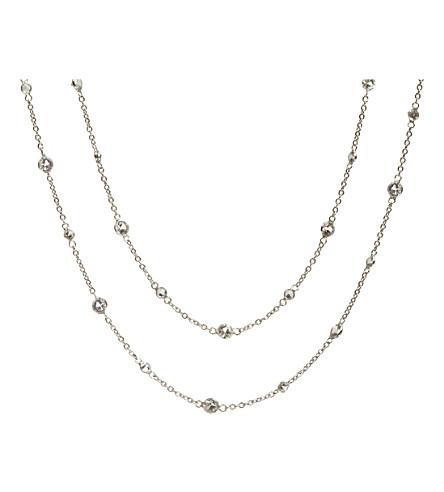 ANNOUSHKA花蜜茉莉18ct 白金和蓝宝石项链
