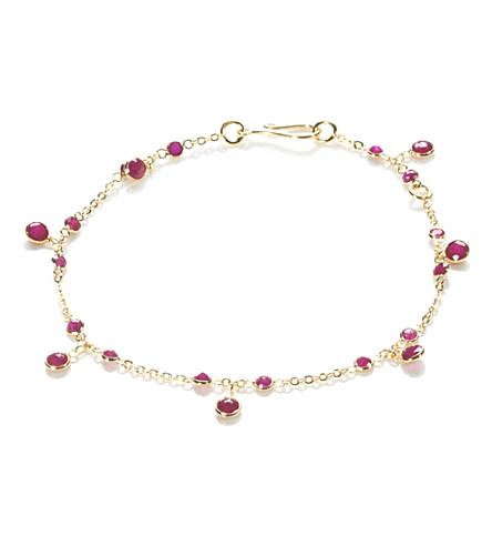ANNOUSHKA Nectar Cherry Droplet 18ct yellow-gold and ruby bracelet