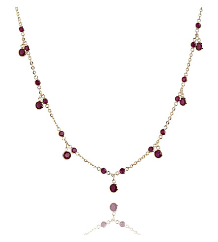 ANNOUSHKA Nectar Cherry Droplet 18ct yellow-gold and ruby necklace