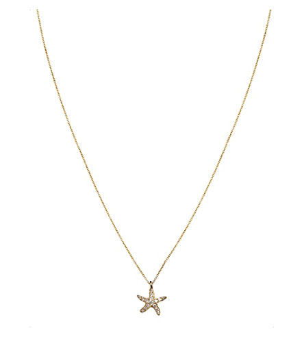ANNOUSHKA 18ct yellow gold and diamond Love Diamonds Starfish pendant necklace