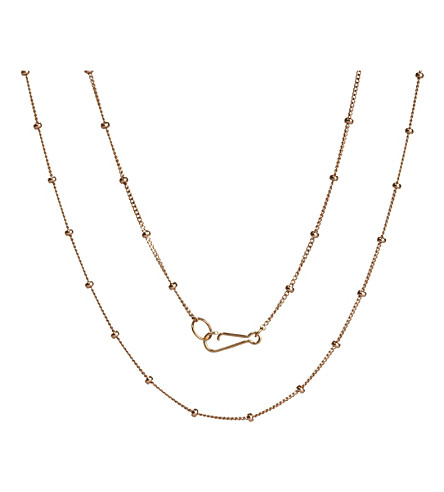ANNOUSHKA Classic Saturn 18ct rose-gold short chain necklace