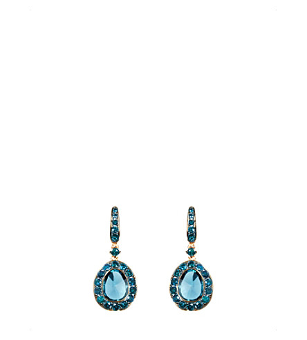 ANNOUSHKA Dusty Diamonds 18ct rose-gold, diamond and topaz drop earrings