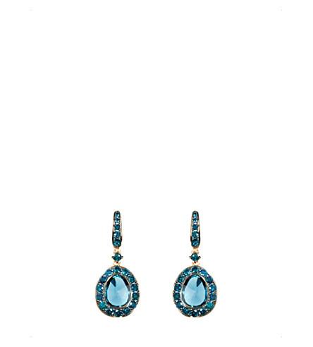 ANNOUSHKA 尘土飞扬的钻石18ct 玫瑰-黄金, 钻石和黄玉下降耳环
