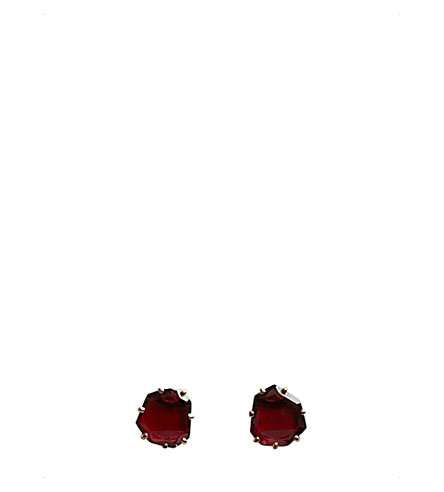 ANNOUSHKA Shard 18ct rose-gold and garnet stud earrings