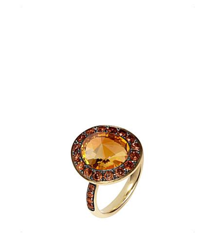 ANNOUSHKA 尘土飞扬的金刚石18ct 金黄-金子, 金刚石和水晶圆环