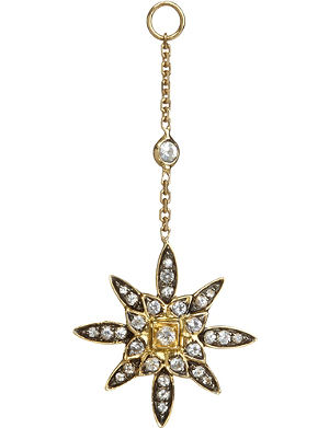 ANNOUSHKA Frost 14kt yellow-gold and sapphire earring drop