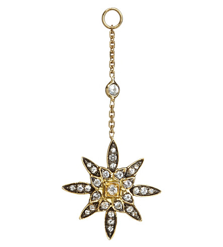 ANNOUSHKA Frost 14ct yellow-gold and sapphire earring drop
