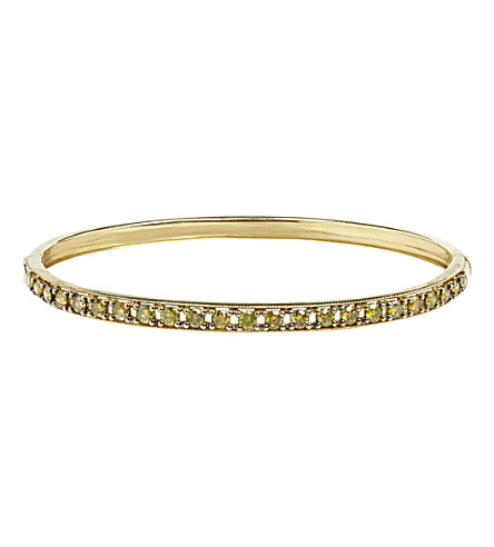 ANNOUSHKA Dusty Diamonds 18ct yellow-gold and diamond line bangle