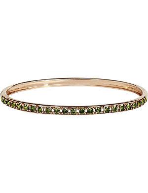 ANNOUSHKA Dusty diamonds 18ct rose-gold and diamond line bangle