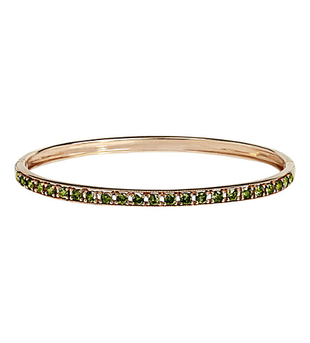 ANNOUSHKA Dusty Diamonds 18ct rose-gold and diamond line bangle