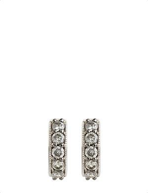 ANNOUSHKA Dusty diamonds 18kt white-gold and diamond hoop earrings