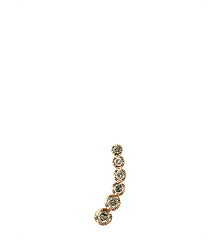 ANNOUSHKA Dusty Diamonds 18ct rose-gold and diamond left ear pin