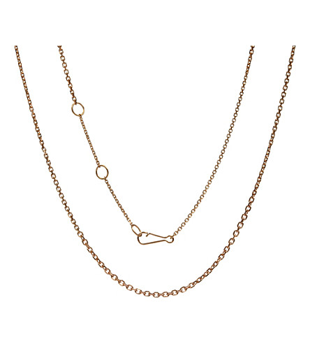 ANNOUSHKA Classic gradient 18ct rose-gold chain necklace
