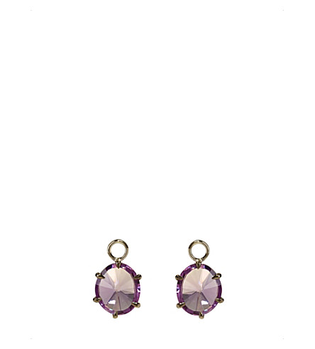 ANNOUSHKA 18ct white-gold and amethyst earring drops