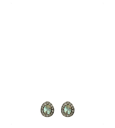 ANNOUSHKA Dusty 18ct white-gold, labradorite and diamond stud earrings