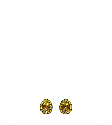 ANNOUSHKA Dusty 18ct yellow-gold, citrine and diamond stud earrings