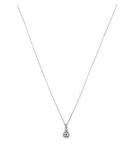 ANNOUSHKA Daisy 18ct white gold and diamond pendant