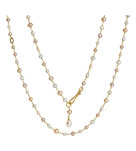 <mstrans:dictionary translation=&quot;ANNOUSHKA&quot;>ANNOUSHKA</mstrans:dictionary> Seed Pearl and 18ct yellow-gold chain necklace