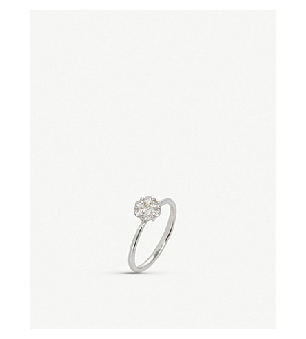 ANNOUSHKA Daisy 18ct white gold and diamond ring