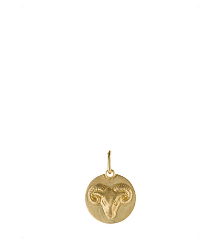 ANNOUSHKA Aries 18ct yellow gold pendant