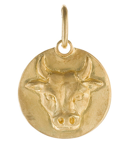 ANNOUSHKA Mythology Taurus 18ct yellow-gold pendant