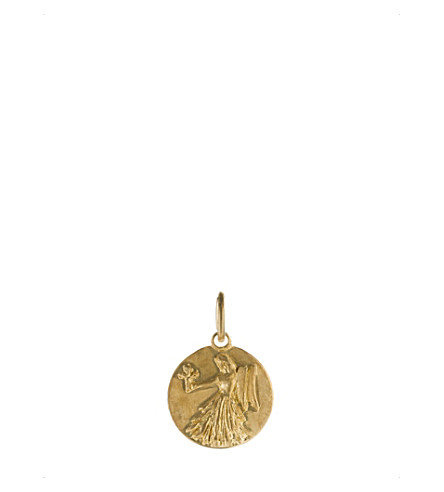 ANNOUSHKA Mythology Virgo 18ct yellow-gold pendant