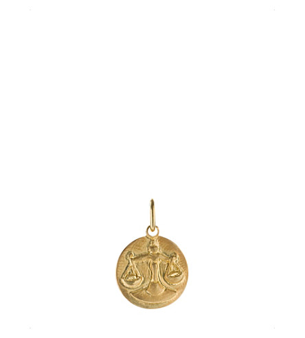 ANNOUSHKA Mythology Libra 18ct yellow-gold pendant