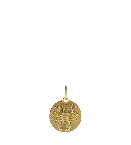 ANNOUSHKA Mythology Scorpio 18ct yellow-gold pendant